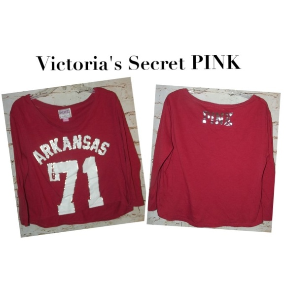 c06cd93a2ac06 VS Pink College Apparel Arkansas Cropped Top